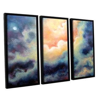 ArtWall 'Marina Petro's Marina' 3-piece Floater Framed Canvas Set