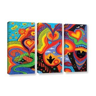 ArtWall 'Marina Petro's Hearts' 3-piece Gallery Wrapped Canvas Set