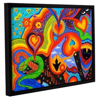 ArtWall 'Marina Petro's Hearts' Gallery Wrapped Floater-framed Canvas