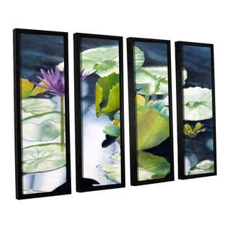 ArtWall 'Marina Petro's From Deep' 4-piece Floater Framed Canvas Set