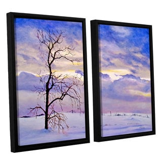 ArtWall 'Marina Petro's Solitude' 2-piece Floater Framed Canvas Set