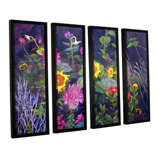 ArtWall 'Marina Petro's Out of Darkness' 4-piece Floater Framed Canvas Set