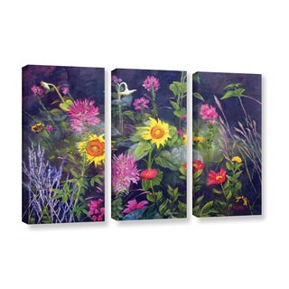 ArtWall 'Marina Petro's Out of Darkness' 3-piece Gallery Wrapped Canvas Set