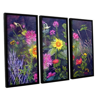 ArtWall 'Marina Petro's Out of Darkness' 3-piece Floater Framed Canvas Set
