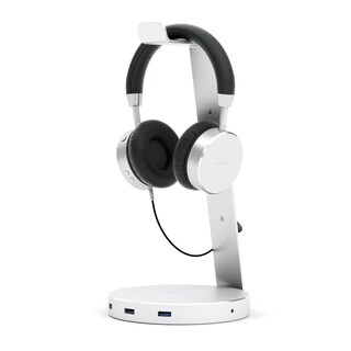 Satechi Aluminum USB Headphone Stand Holder with Three USB 3.0 Ports and 3.5mm AUX Port for All Headphone Sizes