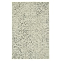 Hand-Tufted Mi Casa Ivory Distressed Traditional Rug - 8' x 10'
