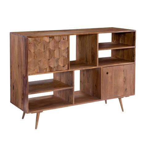 "Aurelle Home Oslo Mid-Century Modern Bookshelf - 22"" x 62"" x 36"""