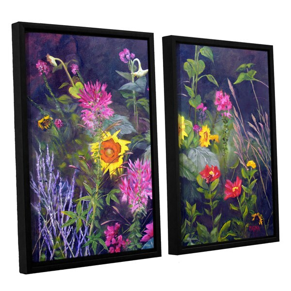 ArtWall 'Marina Petro's Out of Darkness' 2-piece Floater Framed Canvas Set