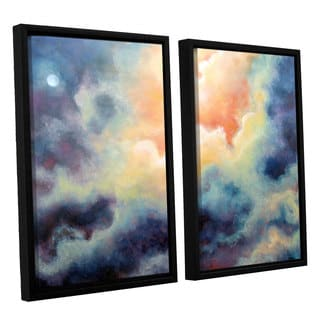 ArtWall 'Marina Petro's In the Pink' 2-piece Floater Framed Canvas Set