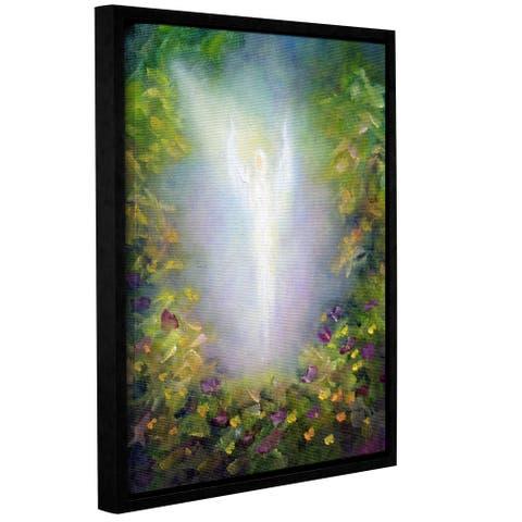 ArtWall 'Marina Petro's Healing Angel I' Gallery Wrapped Floater-framed Canvas