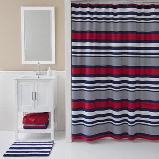 R IZOD Varsity Stripe Shower Curtain