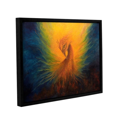 ArtWall 'Marina Petro's Firebird' Gallery Wrapped Floater-framed Canvas