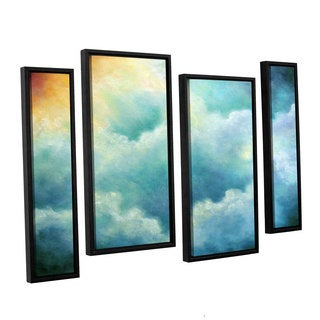 ArtWall 'Marina Petro's Evidence of Angels' 4-piece Floater Framed Canvas Staggered Set