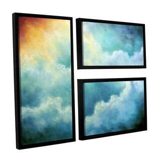 ArtWall 'Marina Petro's Evidence of Angels' 3-piece Floater Framed Canvas Flag Set