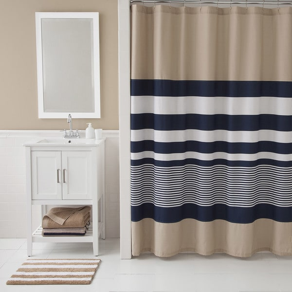 IZOD Classic Stripe Shower Curtain Free Shipping On Orders Over 45 Overs