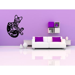 Bengal Cat Breed jumps Funny Pet Wall Art Sticker Decal