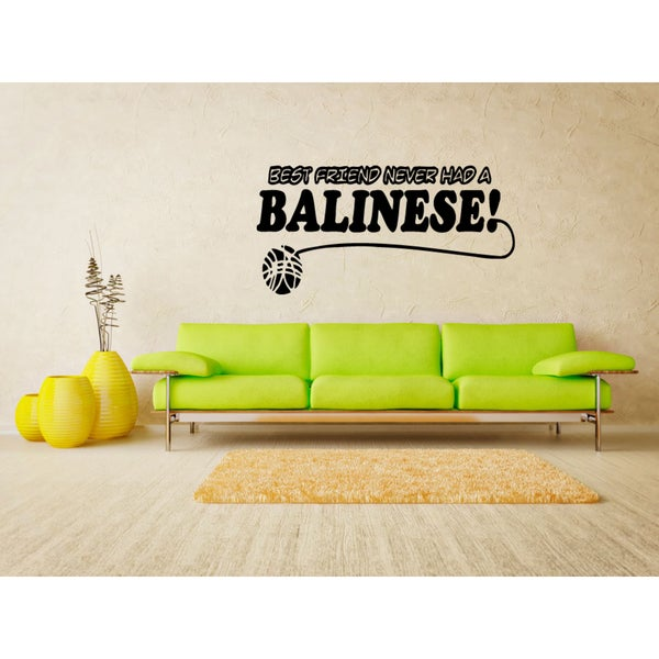 Shop Balinese Cat Breed Cat Best friend Wall Art Sticker Decal ...