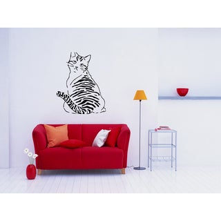 American Wirehair Breed Cat Kitten Pet Wall Art Sticker Decal