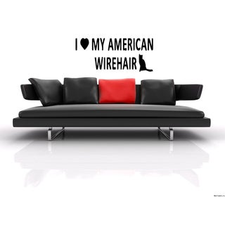 I love American Wirehair Breed Cat Wall Art Sticker Decal