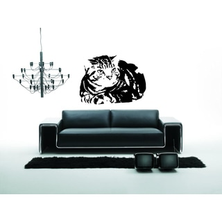 American Wirehair Breed Cat Wall Art Sticker Decal