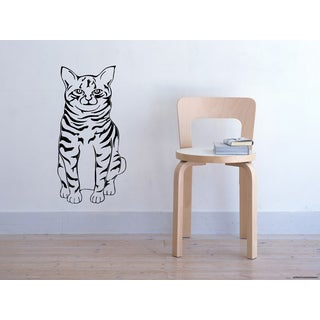 Tiger Cat Wall Art Sticker Decal