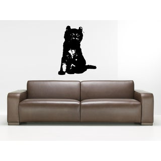 American Curl Breed Cat Silhouette Wall Art Sticker Decal
