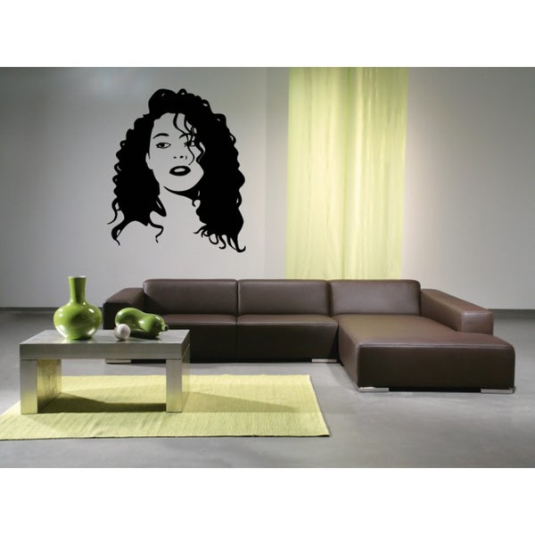 Beauty woman with hairstyle Wall Art Sticker Decal