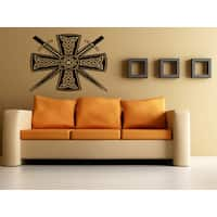 Celtic cross and Sword Wall Art Sticker Decal