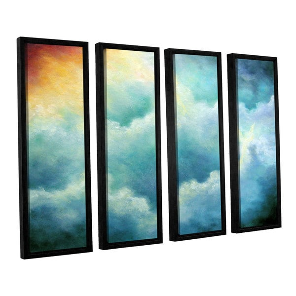 ArtWall 'Marina Petro's Evidence of Angels' 4-piece Floater Framed Canvas Set