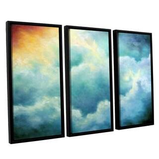 ArtWall 'Marina Petro's Evidence of Angels' 3-piece Floater Framed Canvas Set