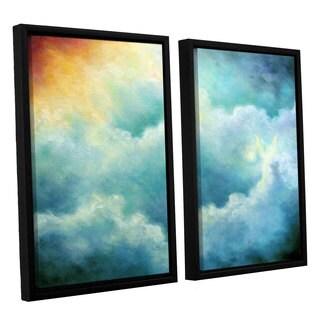 ArtWall 'Marina Petro's Evidence of Angels' 2-piece Floater Framed Canvas Set