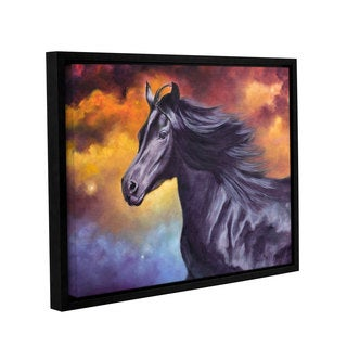 ArtWall 'Marina Petro's Black Thunder' Gallery Wrapped Floater-framed Canvas