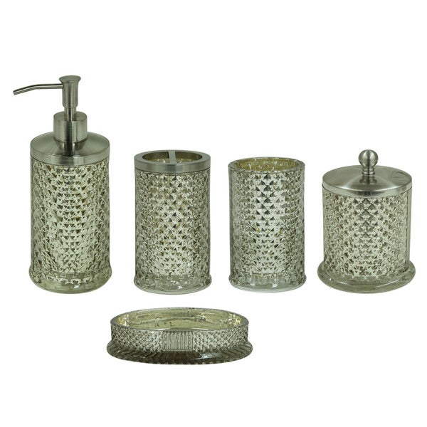 Jessica Simpson Antique Diamond Cut Bath Accessories