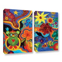 ArtWall 'Marina Petro's Bluebird of Happiness' 2-piece Gallery Wrapped Canvas Set