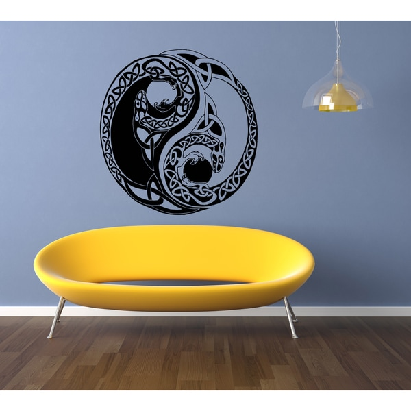 Celtic knot stylized graphical representations The Dragon Wall Art Sticker Decal
