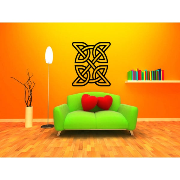 Shop Celtic knot graphical Wall Art Sticker Decal - Free Shipping On ...