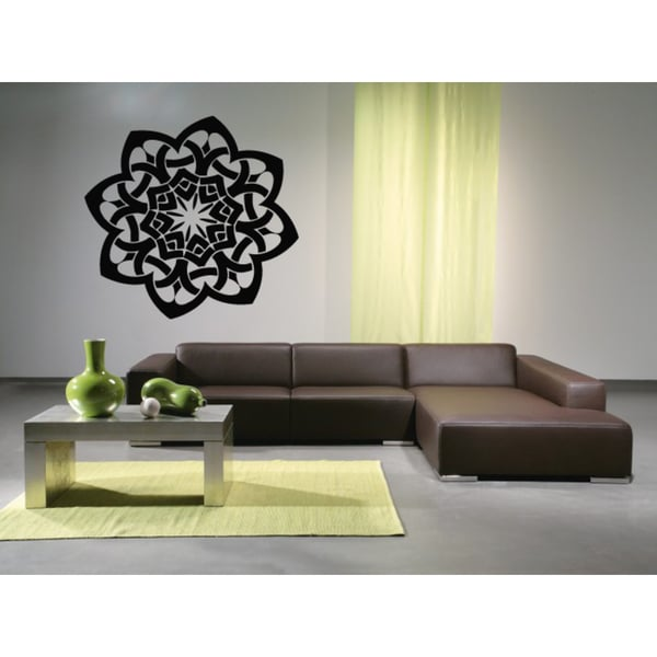 Celtic knot graphical Flower Wall Art Sticker Decal