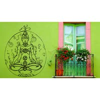 Yoga Mysterious woman Chakra Wall Art Sticker Decal