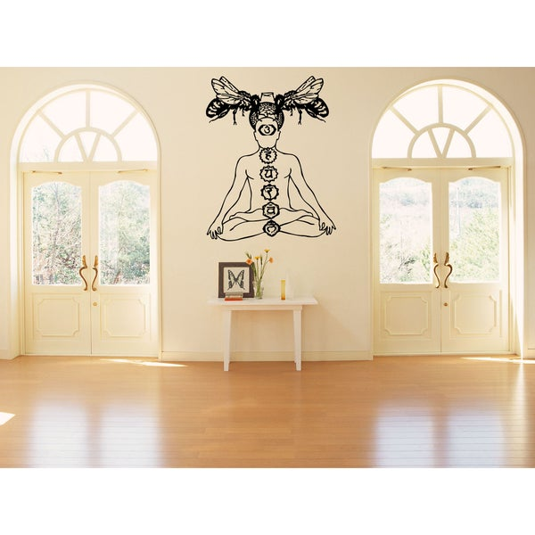 Yoga Mysterious Chakra Wasp Wall Art Sticker Decal