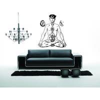 Yoga Mysterious Chakra A man relaxes Wall Art Sticker Decal