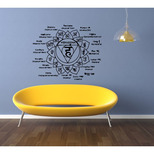 shop mantra yoga instruction wall art sticker decal - free shipping