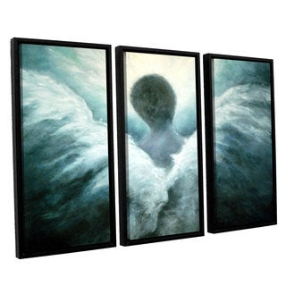 ArtWall 'Marina Petro's Ascending Angel' 3-piece Floater Framed Canvas Set