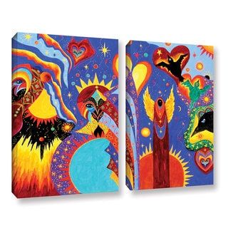 ArtWall 'Marina Petro's Angel Fire' 2-piece Gallery Wrapped Canvas Set