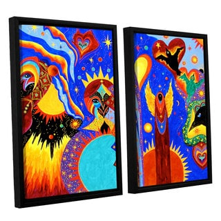 ArtWall 'Marina Petro's Angel Fire' 2-piece Floater Framed Canvas Set