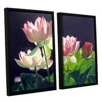 ArtWall 'Marina Petro's Andrea's Lilies' 2-piece Floater Framed Canvas Set