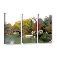 ArtWall 'Linda Parker's Saturday Central Park' 3-piece Gallery Wrapped Canvas Set - Multi