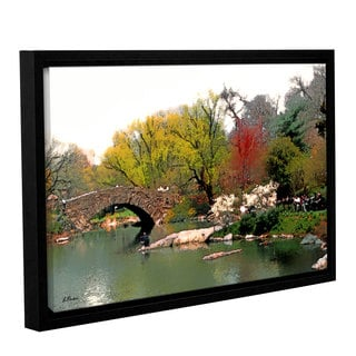 ArtWall 'Linda Parker's Saturday Central Park' Gallery Wrapped Floater-framed Canvas