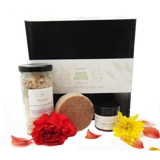 Fancy Feet Gift Set, with 9 oz. Mineral Foot Soak, 4 oz. Grit Handmade Soap, and 1.8 oz. Foot Balm by Karess Krafters