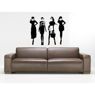 Fashion Beautiful Girl Wall Art Sticker Decal