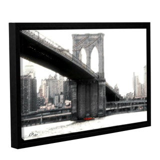 ArtWall 'Linda Parker's NYC's Brooklyn Bridge' Gallery Wrapped Floater-framed Canvas